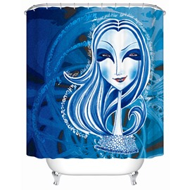Creative Design Pattern Moist Resistant Polyester Material Shower Curtain
