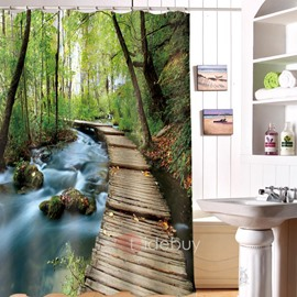 Scenery Pattern Waterproof Mildew Resistant Bathroom Shower Curtain