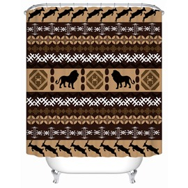 Creative Design Pattern Polyester Material Mildew Resistant Shower Curtain
