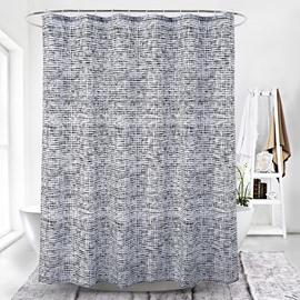 Simple Style Stripe Pattern Waterproof Polyester Shower Curtain