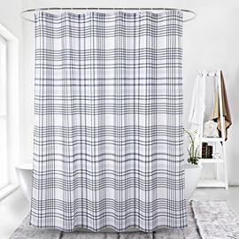 Digital Printing Simple Style Stripe Pattern Shower Curtains