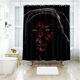 Halloween Style Black Skull PatternPolyester Anti-Bacterial Shower Curtain