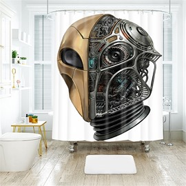 Saucer Man Pattern Halloween Style Polyester Anti-Bacterial Shower Curtain