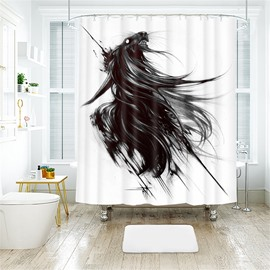 Halloween Style Horse Pattern Polyester Anti-Bacterial Shower Curtain