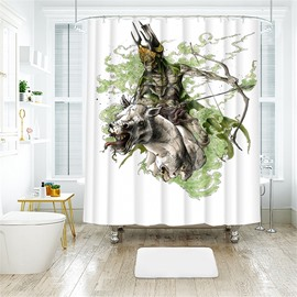 Halloween Style Creative Pattern Polyester Anti-Bacterial Shower Curtain