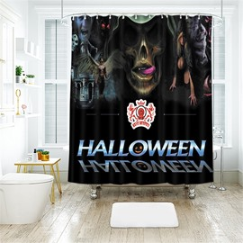 Halloween Letters Pattern Polyester Anti-Bacterial Shower Curtain