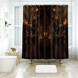 Halloween Skull Scene Pattern Polyester Anti-Bacterial Shower Curtain