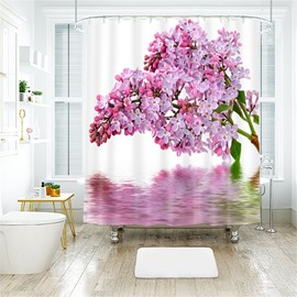 3D Convallaria Majalis Printed Polyester Bathroom Shower Curtain
