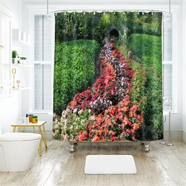 3D Grass Land Printed Polyester Bathroom Shower Curtain