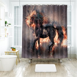 Horse 3D Printed Polyester Bathroom Shower Curtain