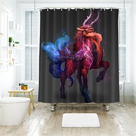 Kylin 3D Printed Polyester Bathroom Shower Curtain