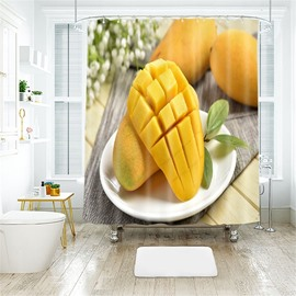 Mango 3D Printed Polyester Bathroom Shower Curtain