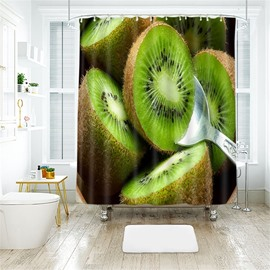 Kiwi Fruit 3D Printed Polyester Bathroom Shower Curtain