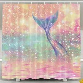 Sparkling Mermaid Tail 3D Shower Curtain Bathroom Decor