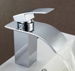 New Arrival Modern Single Handle Waterfall Brass Bathroom/Kitchen Sink Faucet