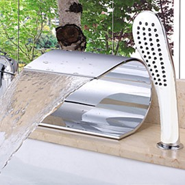 Modern Design Waterfall Wall-mounted Oil-rubbed Bronze Bathtub Faucet