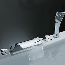 Amazing Style Waterfall Handshower Bathtub Faucet