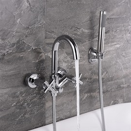 Brass Zinc Alloy Wall in Bathtub Faucet