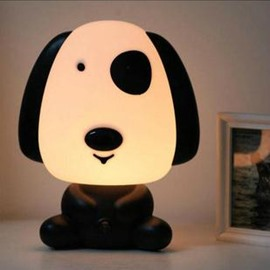 Cute Little Dog Shape Energy Saving Night Table Lamp