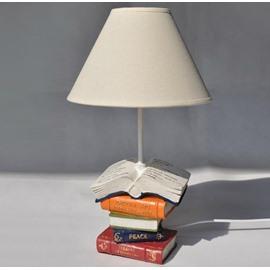 Lovely Piled Books Style Resin Table Lamp