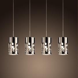 Decorative Stunning Steel 4 Lights Decorative Pendant Light