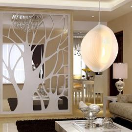 Amazing White Metal PVC Shade 1 Light Pendant