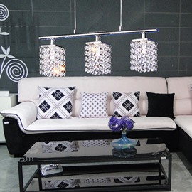Fashionble Metal Crystal Shade 3 Lights Pendant Lights