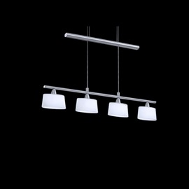 Modern Simple Style Metal Crystal Shade 4 Lights Pendant