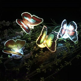 Fancy Creative 10-Pieces LED Butterfly Sticky Night-light