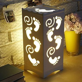 Cute Carved Little Footprints Pattern Design Table Lamp
