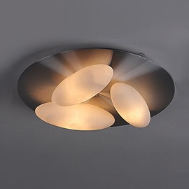 Amazing Electroplated Finish 3-Heads Oval Shape Flush Mount
