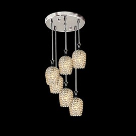 Pretty Alloy and Crystal 6-piece Pendant Lights