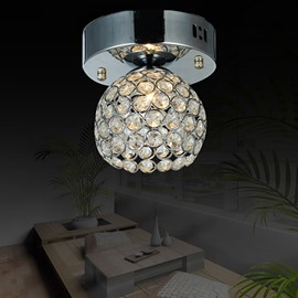 Beautiful Alloy and Crystal Design Flush Mount