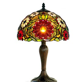 Wonderful Tiffany Decorative Sunflower Pattern Table Lamp
