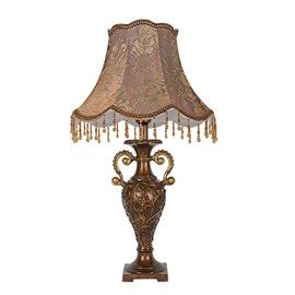 Simple Fashion European Fabric Resin lamp