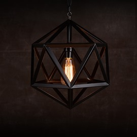 Nordic Country Style Dining Room Bar Hexahedron Pendant Lights