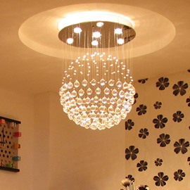 Fabulous Creative Modern Crystal Balls 3-Bulb Flush Mount Lights