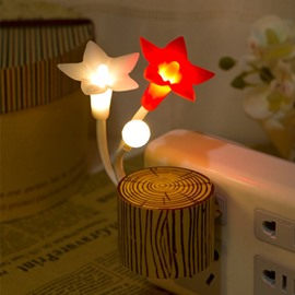Wonderful Five-Petal Flower Lightness-Operated LED Nightlight