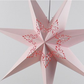 Creative Pink Heptagon European Style Ceiling Light