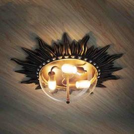 Classic Resin European Style Sun Shape Ceiling Light