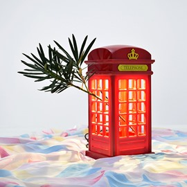 Classic Telephone Booth indoor outdoor Decorative Night Light