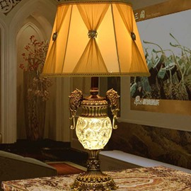 Simple European Style Resin and glasses Table Lamp