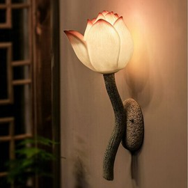 Modern Creative Lotus LED Resin Wall Light