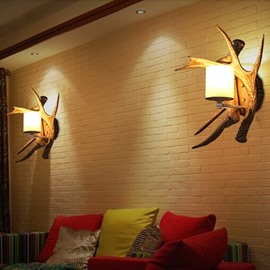 Creative Countryside Style Antler Shape Wall Light