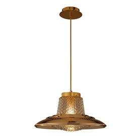 Beautiful Iron and Glass Decorative Pendant Light