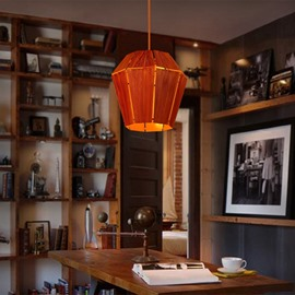 Orange Iron Frame Home Decorative Pendant Light