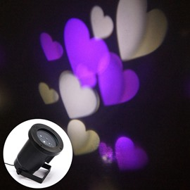 White and Purple Color Heart Shape Indoor Outdoor LED Light