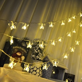 Starry Battery Powered Butterfly Shape Indoor and Outdoor LED String Lights