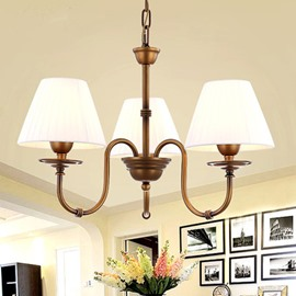 European Style Iron Bronze Three Lights Home Decorative Pendant Light