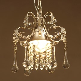 Modern Simple Iron and Crystal American Country Style Home Decorative Pendant Light